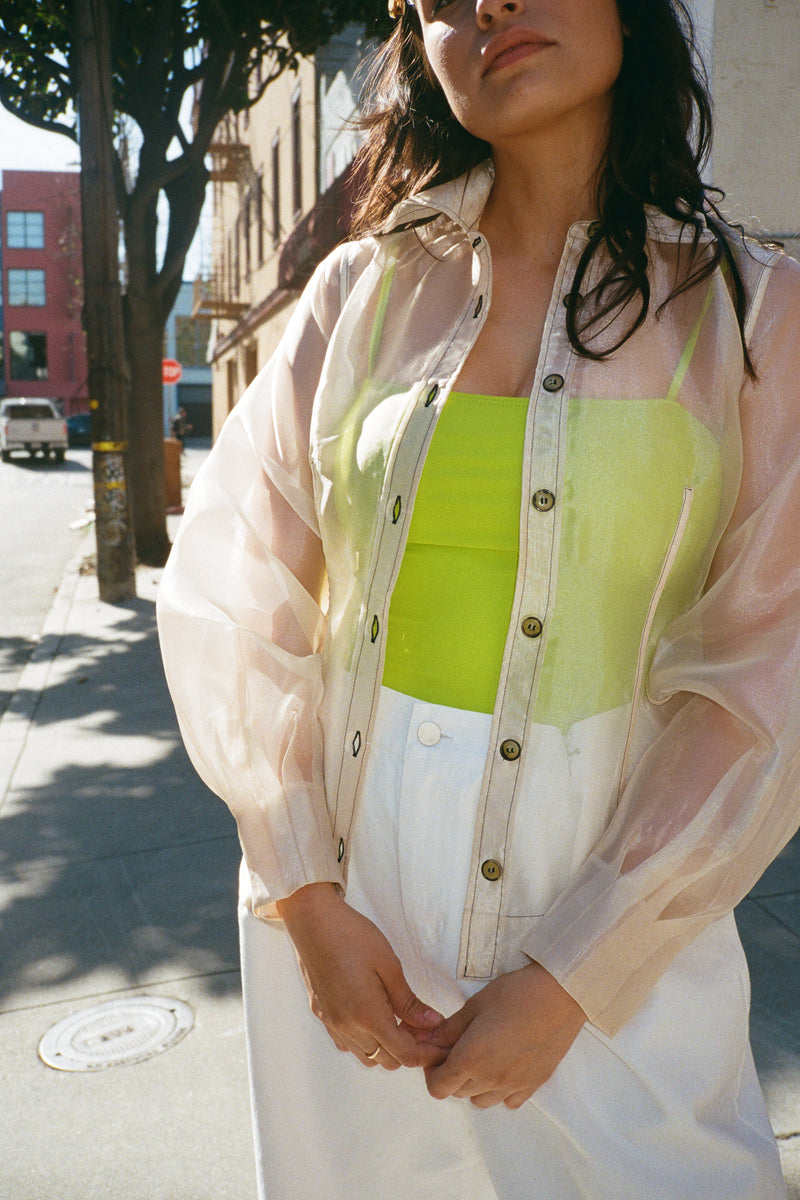 Flint Sheer Blouse - Tapioca