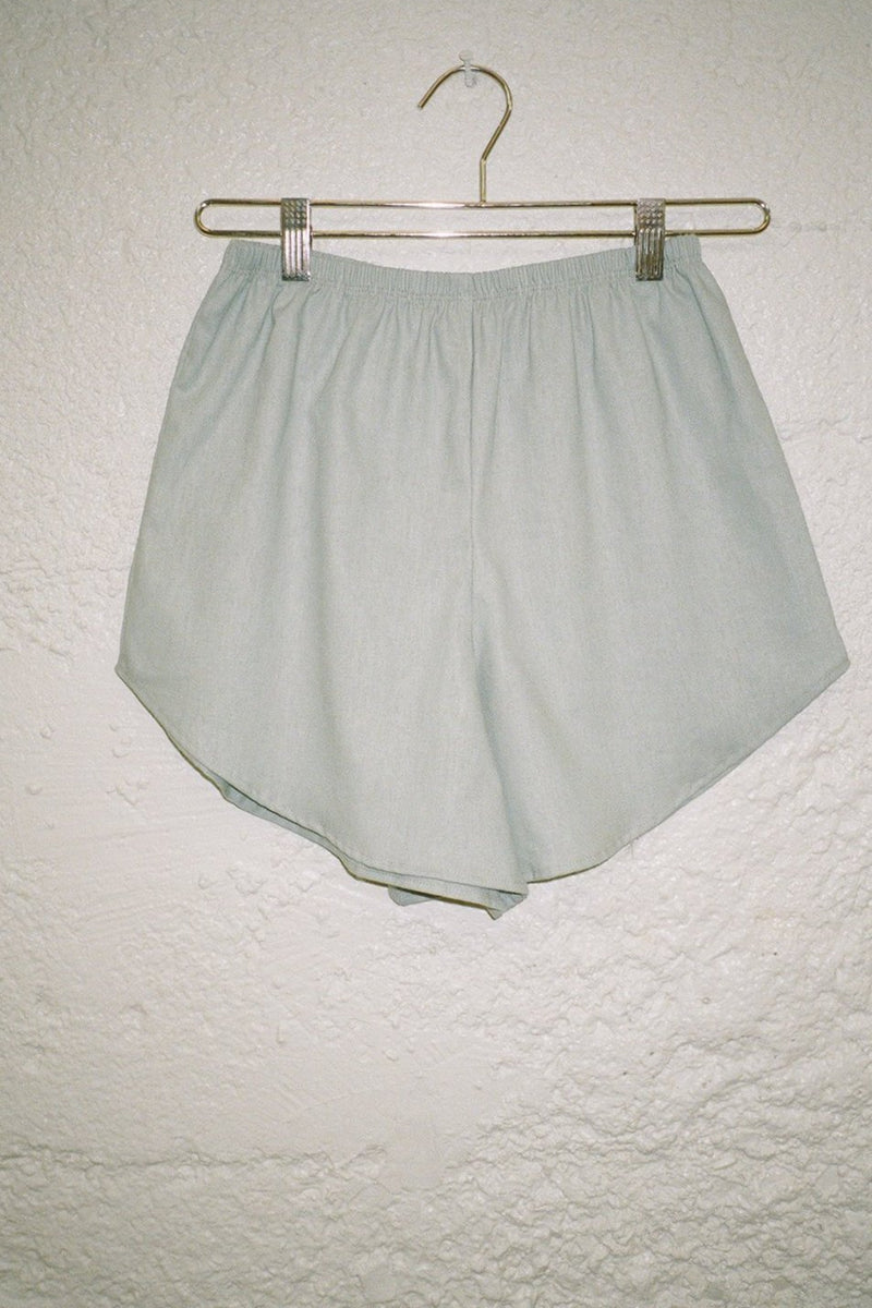 Capri Linen Short - Dusty Blue
