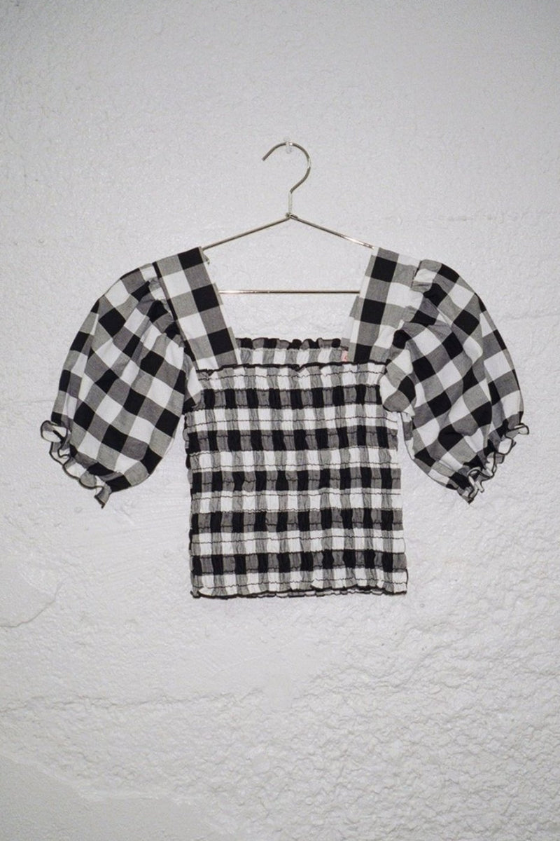Toni Top - Black and White Gingham