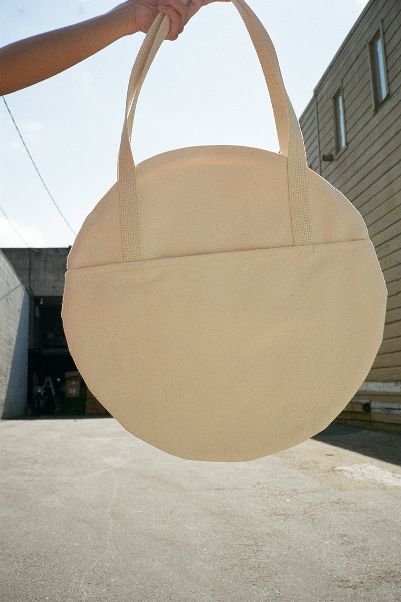 Large Circle Tote - Natural