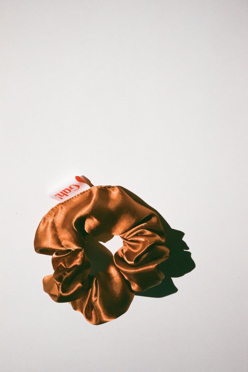 Satin Scrunchie - Copper