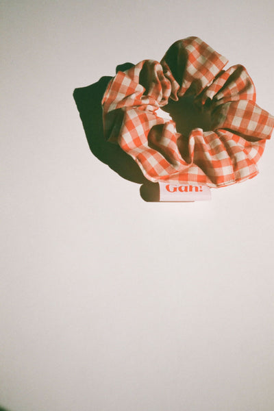 Scrunchie - Terracotta Gingham