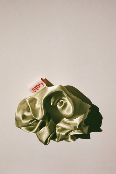 Satin Scrunchie - Celery
