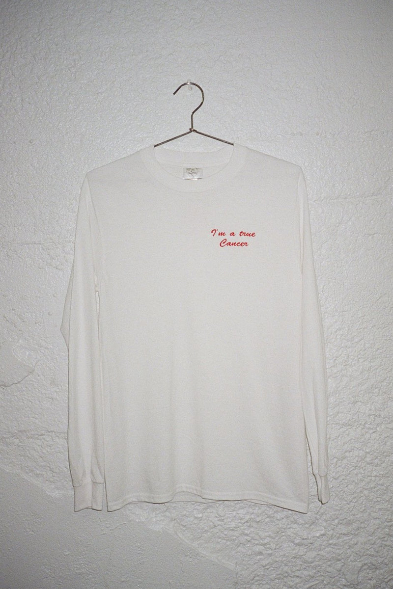I'm a True Cancer L/S T-Shirt - White