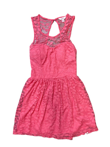 Candies Pink Lace Skater Dress