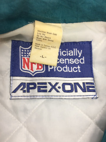 Vintage 1980s Miami Dolphins Padded APEX ONE Jacket