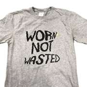 Worn not wasted over-printed Brooks brothers tee