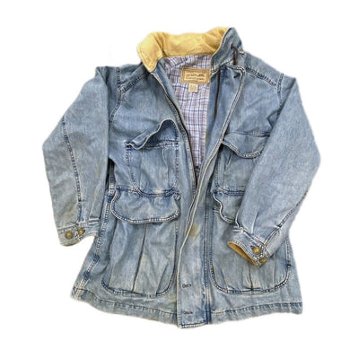 Vintage Calvin Klein Distressed Denim Coat