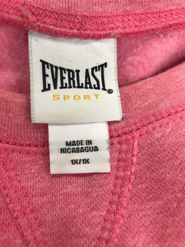 Worn not wasted Everlast Sport Pink Pullover