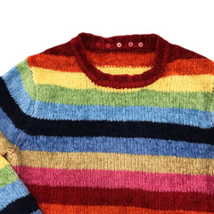 Vintage A case of the bad stripes! Knit pullover