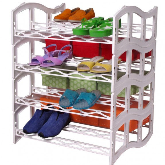 Solemate™ Stacking Shoe Rack 24 pr