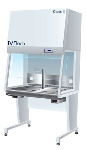IVFtech Class II cabinet front view with scope prep