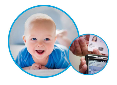 Matcher circles - baby and ID cards
