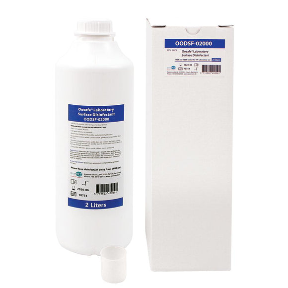 Oosafe® Laboratory Surface Disinfectant 2L with Dose Cup - IVFSynergy