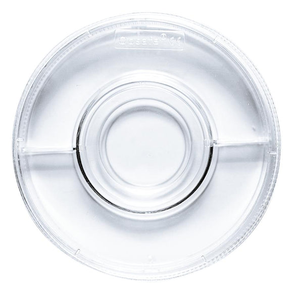 Oosafe® Centre Well Dish With Two Compartments, Label Area Grip - IVFSynergy