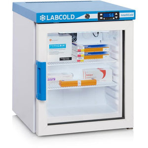 Labcold - Small Benctop or Wall Mounted Glass fronted Pharmaceutical Fridge - IVFSynergy