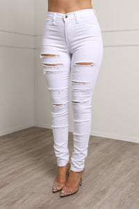 Pick Your Poison Jeans - White