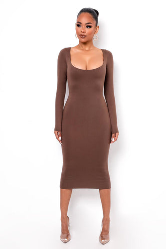 Unforgettable Midi Dress - Brown
