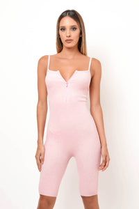 Love Me Now Romper - Baby Pink