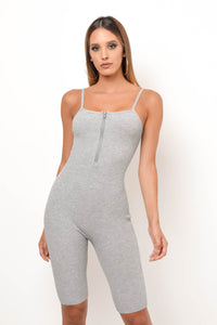 Love Me Now Romper - Gray