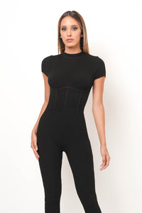 See You Tonight Jumpsuit - Black