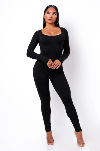 Unforgettable Jumpsuit - Black (PRE-ORDER Will Ship Out 12/4)