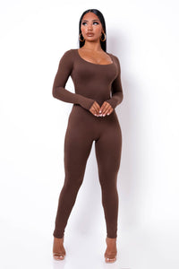 Unforgettable Jumpsuit - Brown (PRE-ORDER Will Ship Out 12/4)