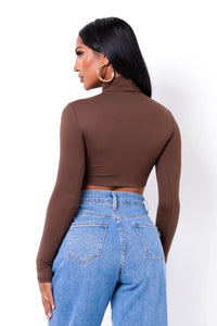 Vital Crop Top - Brown (PRE-ORDER Will Ship Out 12/10)