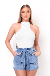 Daisy Shorts - Light Blue