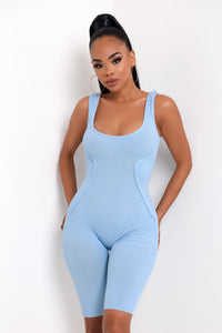 Cool Fit Romper - Baby Blue