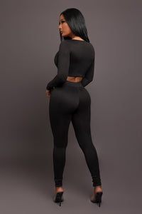 Simple Life Bodysuit - Black