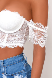 Kalea Crop Top - White