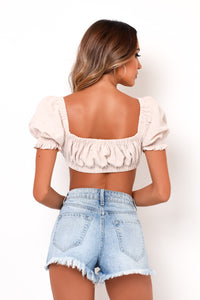 Daydreamer Crop Top - Cream