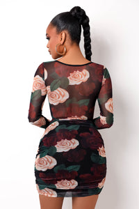 Rosalinda Mini Dress - Floral