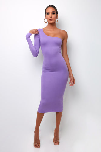 Maya Midi Dress - Purple