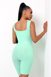 Cool Fit Romper - Mint