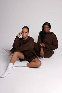 Sequin Goddess Mini Dress - Black
