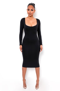 Unforgettable Midi Dress - Black
