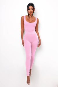Simple Life Bodysuit - Pink