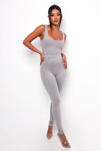 Simple Life Bodysuit - Gray