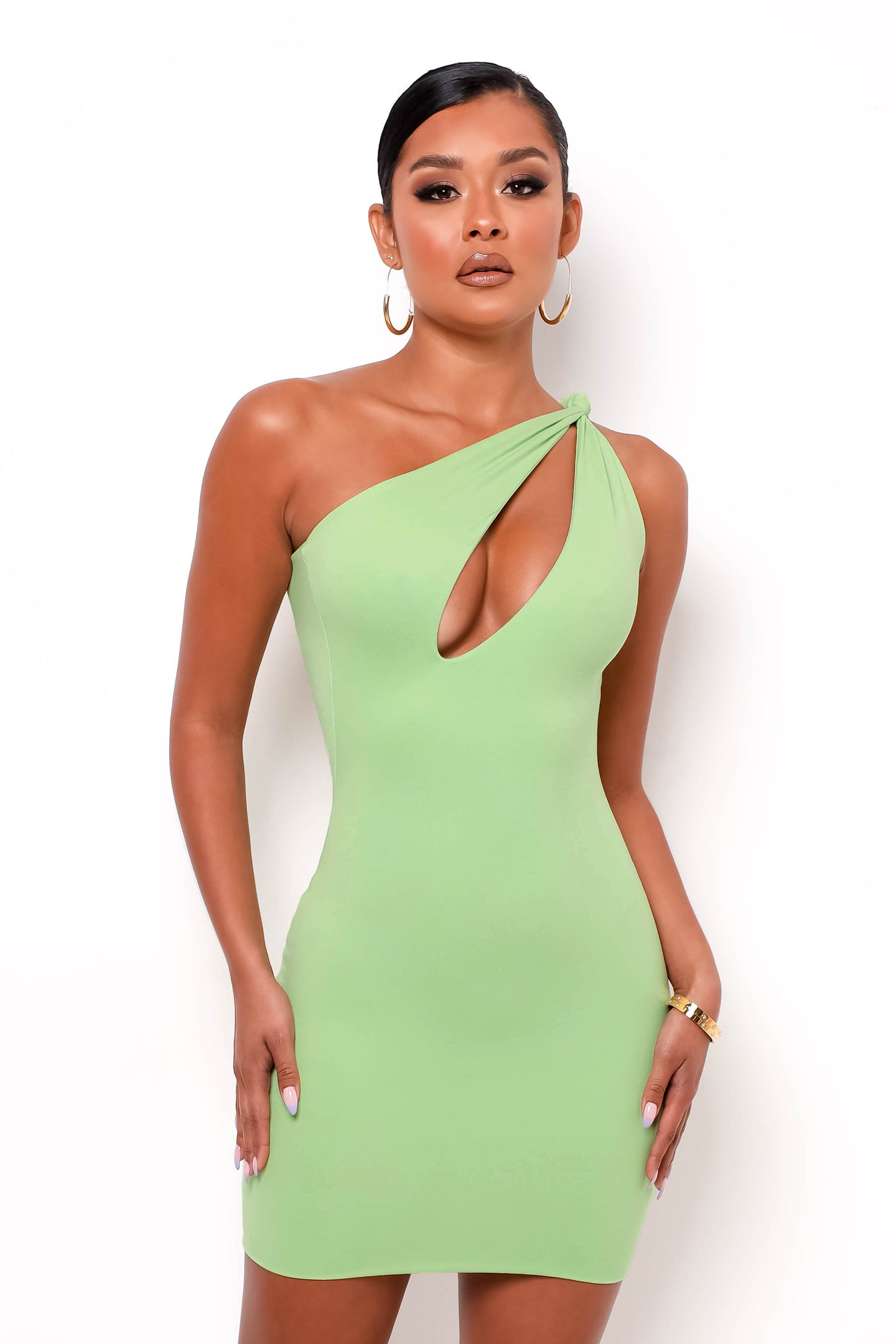 Ariana Mini Dress - Kiwi