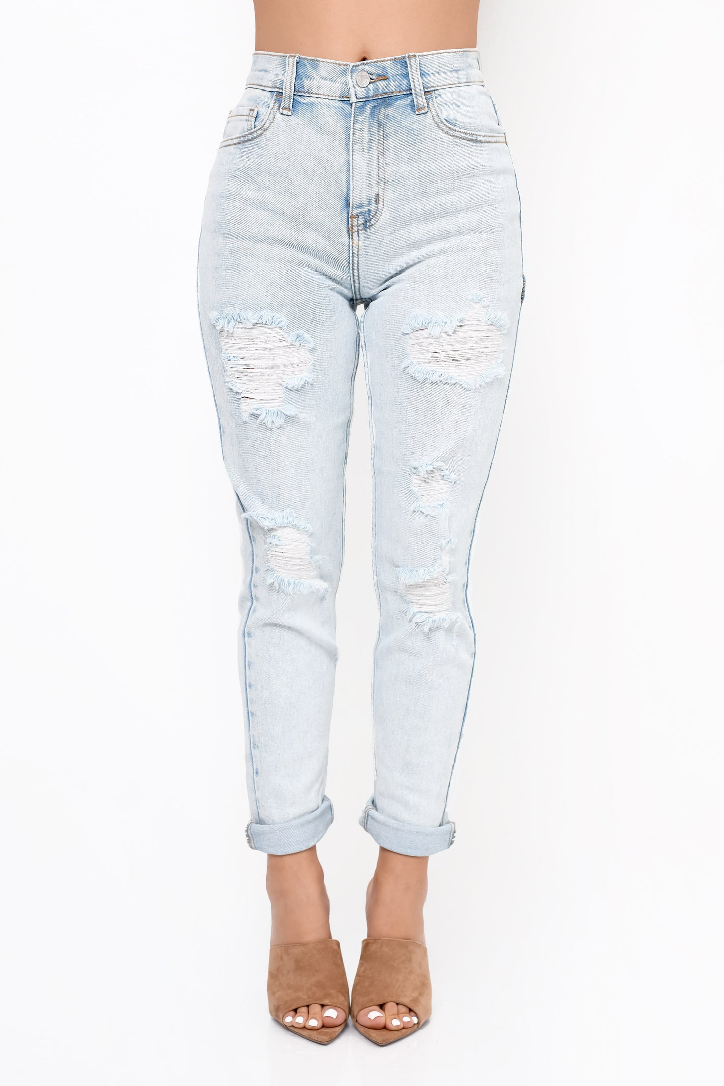 Bleached Out Jeans - Light Wash