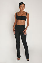Yours Truly Two Piece Short Set - Black