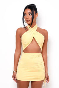 Penelope Mini Dress - Yellow
