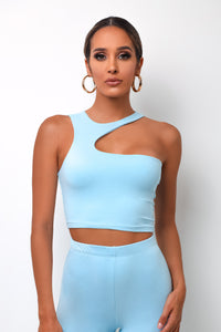 Haze Crop Top - Baby Blue