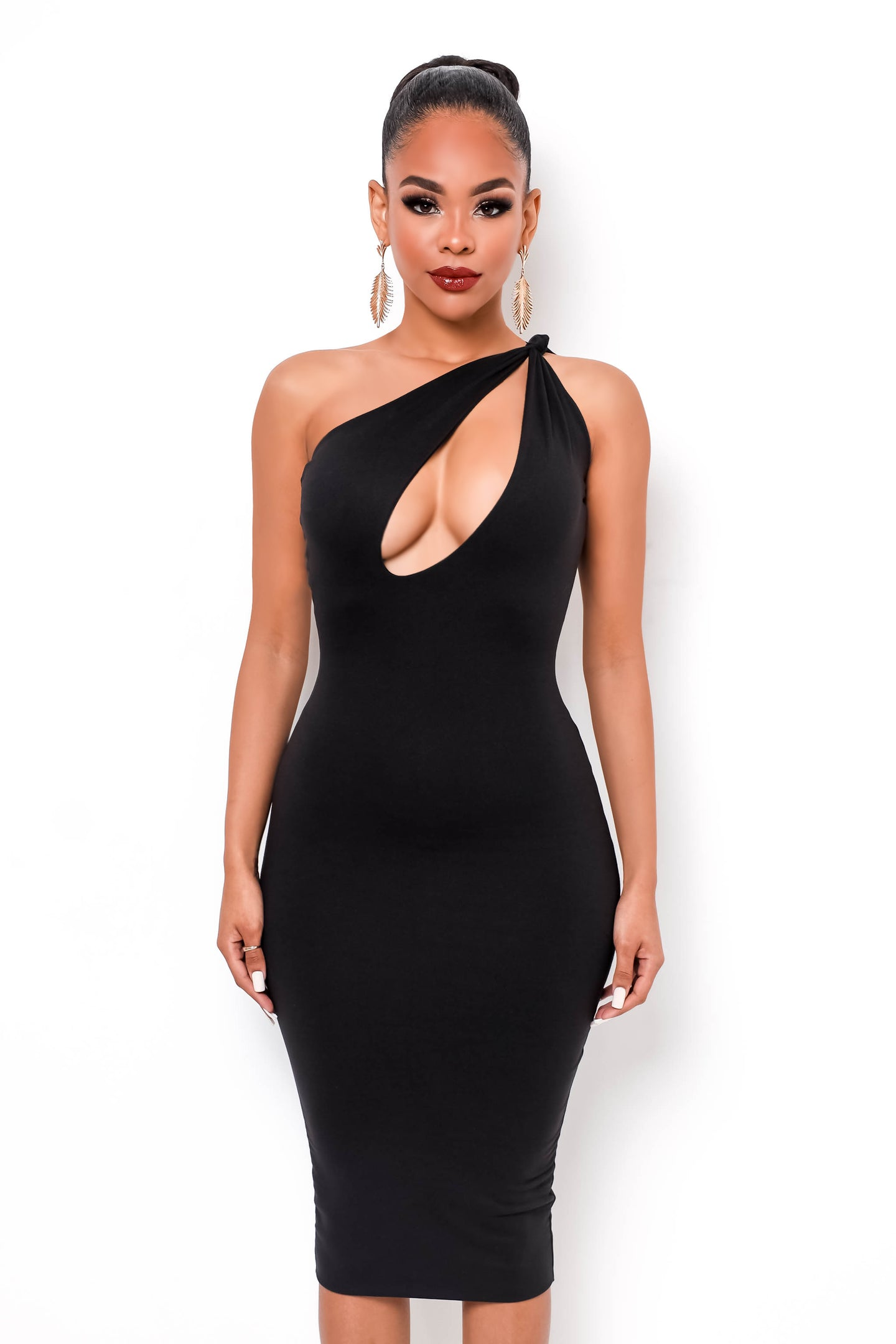 Ariana Midi Dress - Black
