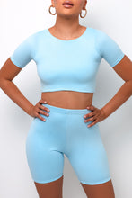 Elemental Biker Shorts - Baby Blue