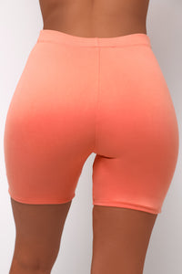 Elemental Biker Shorts - Peach