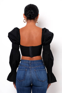 Frida Crop Top - Black