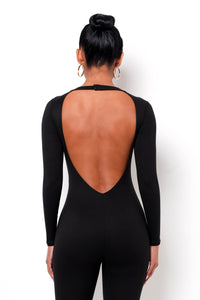 Gia Backless Jumpsuit - Black
